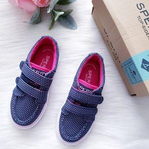 Sperry Hallie Hook & Loop Polka Dot Sneaker